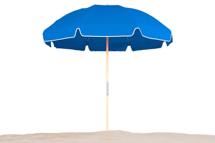 Frankford Emerald Coast Steel Frame Umbrella in pacific blue