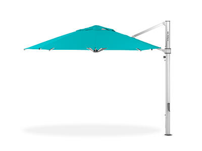 Blue Frankford umbrella featured in the Cantilever collection