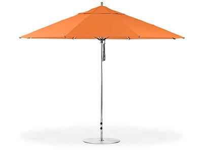 Orange Frankford umbrella featured in the Giant collection
