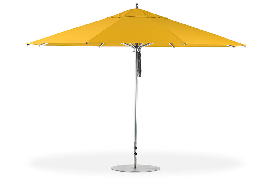 Frankford Greenwich Giant Market Umbrella with yellow fabric