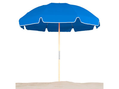 Frankford Emerald Coast Beach Umbrella in blue