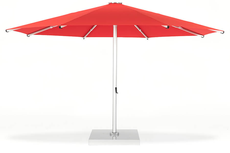 Frankford Nova giant market umbrella with red fabric