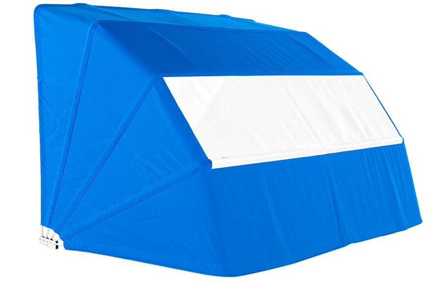 Frankford Beach Cabana in pacific blue and white